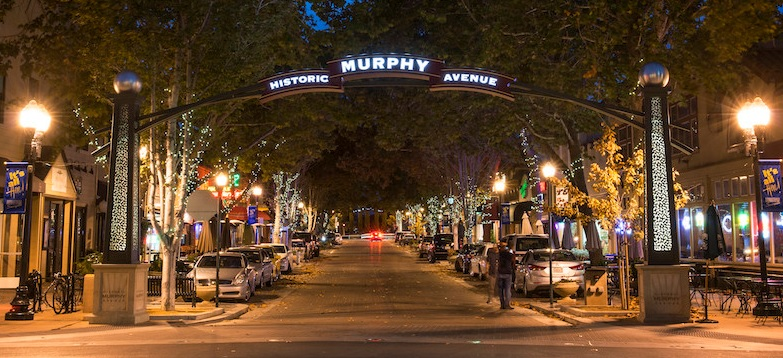 Singles Event and Speed Dating for busy single professionals next to Historic Murphy Avenue in Sunnyvale